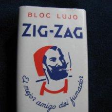 Coleccionismo: PAPEL DE FUMAR ZIG ZAG BLOC LUJO 500 HOJAS. Lote 191968376