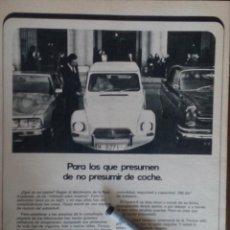 Coleccionismo: PUBLICIDAD AUTOMOVIL CITROEN DYANE . Lote 96950207