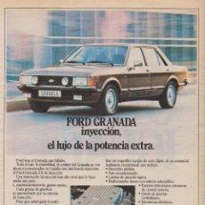 Coleccionismo: PUBLICIDAD AUTOMOVIL FORD GRANADA. Lote 91402324