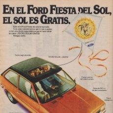 Coleccionismo: PUBLICIDAD AUTOMOVIL FORD FIESTA. Lote 156983778