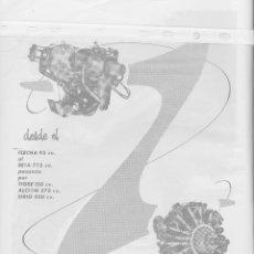 Coleccionismo: PUBLICIDAD AVIONES EMPRESA NACIONAL DE MOTORES DE AVIACION S.A DE 1957. Lote 98016666