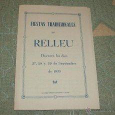 Coleccionismo: FIESTAS TRADICIONALES EN RELLEU ( ALICANTE ) 1935. Lote 49587819