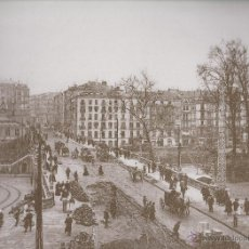 Coleccionismo: LAMINA IMAGENES INOLVIDABLES BIZKAIA / VIZCAYA 1890/1937 EL PUENTE DEL ARENAL BILBAO. Lote 49641881