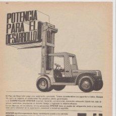 Coleccionismo: PUBLICIDAD CARRETILLA HYSTER DE FINANZAUTO DE LOS AÑOS 60. Lote 166256404
