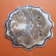 Coleccionismo: POSAVASOS - DISCOTECA CLUB MANILA 2002. Lote 49701103