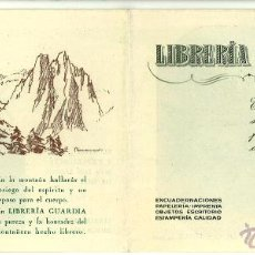 Coleccionismo: PUBLICIDAD LIBRERIA GUARDIA BARCELONA . Lote 49751359