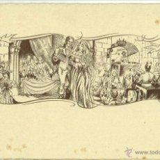 Coleccionismo: TARJETON INVITACION BODA AÑOS 50 DIPTICO 15,5 X 10 CM (APROX). Lote 49751384