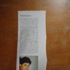 Coleccionismo: BREVE BIOGRAFIA - DIRECTOR DE CINE PEDRO ALMODOVAR. Lote 49889257
