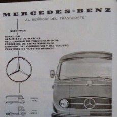 Coleccionismo: ANUNCIO PUBLICIDAD FURGONETA MERCEDES BENZ L 319 D. Lote 98015740