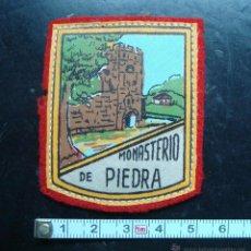 Coleccionismo: ANTIGUO PARCHE TELA, MONASTERIO DE PIDRA, ZARAGOZA. Lote 49963149