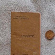 Coleccionismo: NESTLE DIARIO DE VISITAS AGOSTO 1923. Lote 50052936