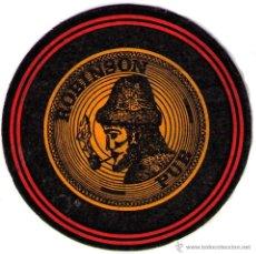 Coleccionismo: POSAVASOS ROBINSON PUB 12'50 CM DIAMETRO CARTON ¿AÑOS 60/70?. Lote 50085212