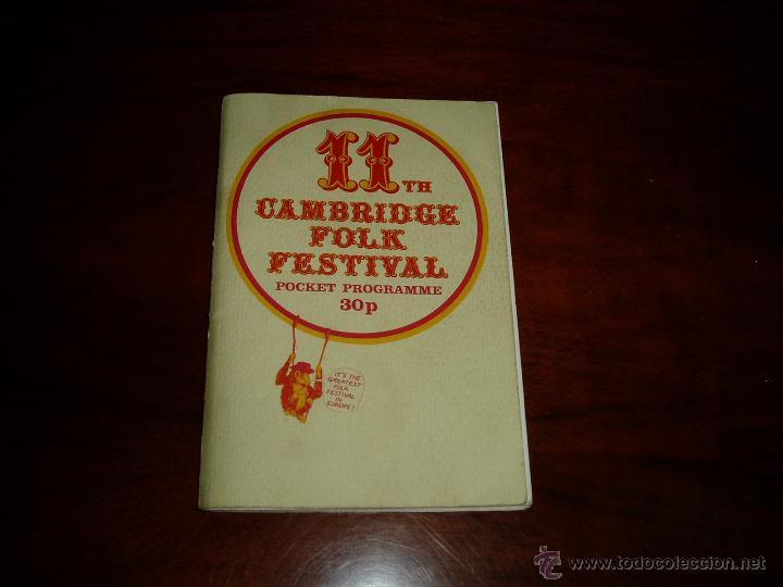 MANUAL DEL 11 FESTIVAL FOLK DE CAMBRIDGE AÑOS 70 (Coleccionismo - Laminas, Programas y Otros Documentos)