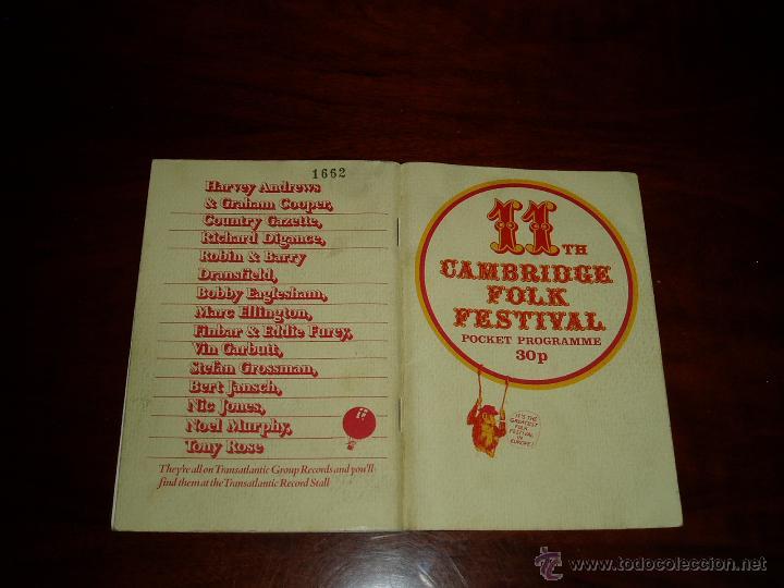 Coleccionismo: Manual del 11 Festival Folk de Cambridge Años 70 - Foto 2 - 50109694