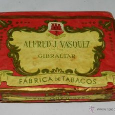 Coleccionismo: ANTIGUO PAQUETE DE TABACO, PICADURA ALFRED J. VASQUEZ, GIBRALTAR - MONTE CARLO, PICADURA AROMATICA,. Lote 50133365