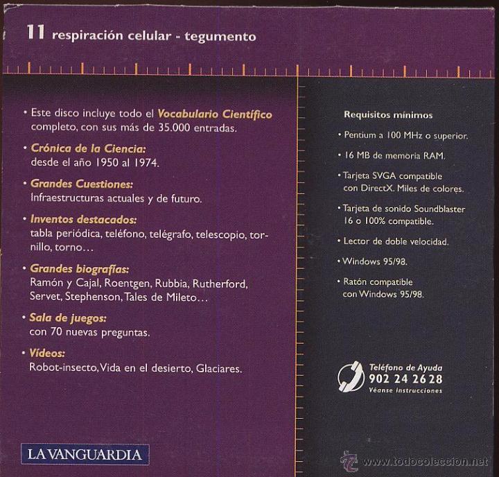 Coleccionismo: CDROM LA AVENTURA DE LA CIENCIA enciclopedia multimedia de LA VANGUARDIA numero 11 - Foto 2 - 50160843