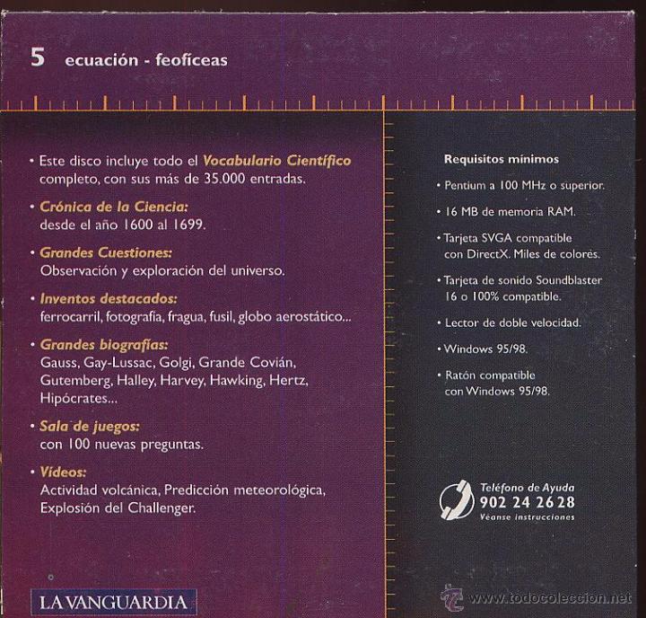 Coleccionismo: CDROM LA AVENTURA DE LA CIENCIA enciclopedia multimedia de LA VANGUARDIA numero 5 - Foto 2 - 50160868