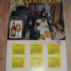 Coleccionismo: INTERESANTE CARTA MENU RESTAURANTE LOS CARACOLES CERVEZA SKOL CALENDARIO 1966 CON FOTOGRAFIAS VER . Lote 50167140