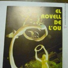 Coleccionismo: OPUSCLE-PROGRAMA EL ROVELL DE L´OU -4O PAG.DEDICADO A LA PL.VERDAGUER TARRAGONA-REMODELACIÓN -BB. Lote 50207484