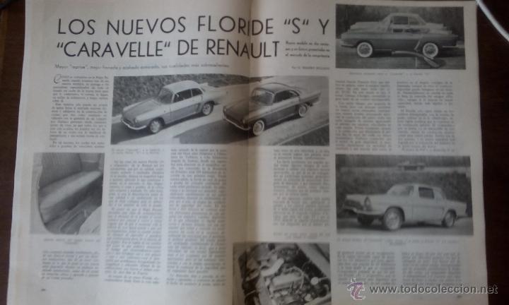 REPORTAJE AUTOMOVIL RENAULT FLORIDE Y CARAVELLE DE 1966 ( 6 PAGINAS) (Coleccionismo - Laminas, Programas y Otros Documentos)