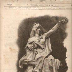 Coleccionismo: AÑO 1890 RECORTE PRENSA ESCULTURA LA TRADICION OBRA ESCULTORICA DE VENANCIO VALLMITJANA. Lote 50429550