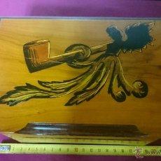 Coleccionismo: CIGARRERA EN MARQUETERIA. Lote 50432996