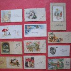 Coleccionismo: TARJETAS.-FELICITACIONES.-LOTE DE 12 TARJETAS.. Lote 50468099