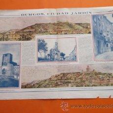 Coleccionismo: 191X - BURGOS CIUDAD JARDIN MONTE CASTILLO PROYECTO ARQUITECTO J. MOYA - CUEVAS BURJASOT BENIMAMET. Lote 50499996