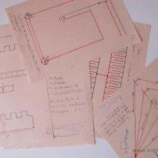 Coleccionismo: 5 DIBUJOS A MANO, CIRCUITOS ELECTRONICOS, ESTUDIANTE SEVILLA AÑO 1938. Lote 50524557