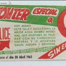 Coleccionismo: VALE2,50 PTS. AGUA FONTER-1963. Lote 50541854