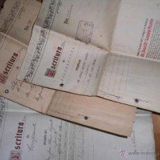 Coleccionismo: LOTE ESCRITURAS ANTIGUAS ALICANTE 1924 C S FERRNANDO. Lote 50576648