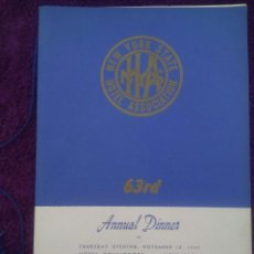 Coleccionismo: HOTEL ASSOCIATION / HOTEL COMMODORE / NEW YORK STATE / ANNUAL DINNER / NOVEMBER 1949. Lote 50630466