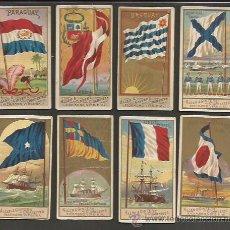 Coleccionismo: LOTE 8 CROMOS TABACO BANDERAS NAVALES - NAVAL FLAGS - MUY ANTIGUOS (CR-855). Lote 50713840