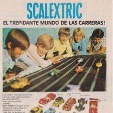 Coleccionismo: PUBLICIDAD JUEGO AUTOMOVILES SCALEXTRIC DE LOS AÑOS 70. Lote 91979912