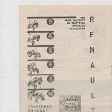 Coleccionismo: PUBLICIDAD TRACTORES RENAULT DE 1961. Lote 172978515