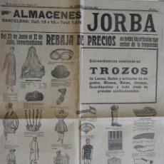 Coleccionismo: EL CORREO CATALAN ALMACENES JORBA 24 DE JUNIO DE 1919. Lote 50934953