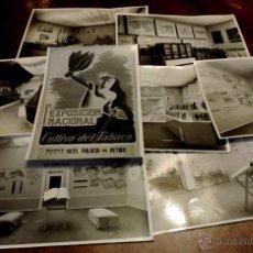 Coleccionismo: 22 FOTOGRAFIAS DE LA 1ª EXPOSICION NACIONAL DEL CULTIVO DEL TABACO, AÑO 1935, PALACIO DEL RETIRO, MA. Lote 51117782