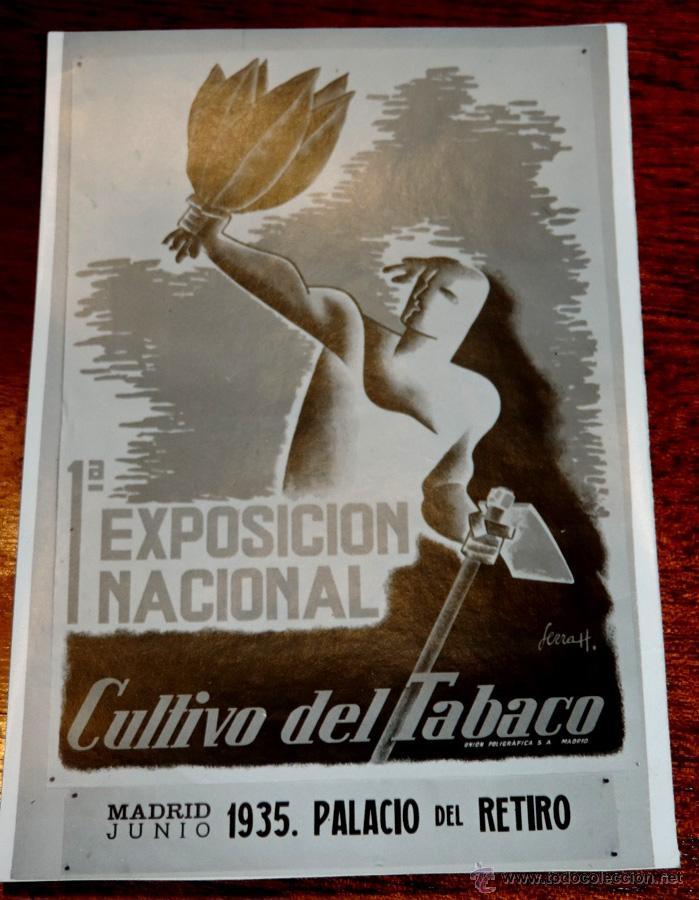 Coleccionismo: 22 FOTOGRAFIAS DE LA 1ª EXPOSICION NACIONAL DEL CULTIVO DEL TABACO, AÑO 1935, PALACIO DEL RETIRO, MA - Foto 2 - 51117782