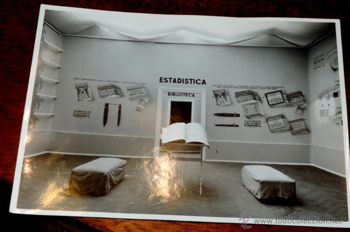 Coleccionismo: 22 FOTOGRAFIAS DE LA 1ª EXPOSICION NACIONAL DEL CULTIVO DEL TABACO, AÑO 1935, PALACIO DEL RETIRO, MA - Foto 6 - 51117782