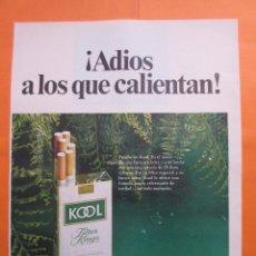 Coleccionismo: PUBLICIDAD 1969 - COLECCION TABACO - KOOL. Lote 51136754
