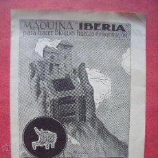 Coleccionismo: SARDANYOLA.-RIPOLLET.-URALITA S.A.-IBERIA.-MAQUINA.-BLOQUES HUECOS DE HORMIGON.-CASAMAJO.-LITOGRAFIA. Lote 113284759