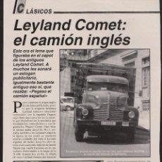 Coleccionismo: REPORTAJE CAMION LEYLAND COMET. Lote 65848370
