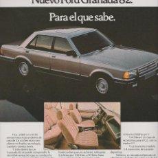 Coleccionismo: PUBLICIDAD AUTOMOVIL FORD GRANADA. Lote 91711957