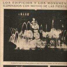 Coleccionismo: AÑO 1932 RECORTE PRENSA LERROUX CIUDAD REAL MADRID FIESTAS REPUBLICA ILUMINACION MONUMENTOS EDIFICIO. Lote 51216893