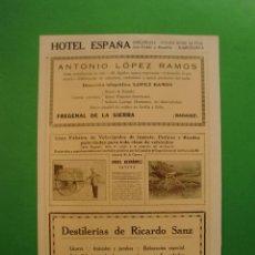 Collectionnisme: VELOCIPEDOS JUGETES PATINES A. HERNÁNDEZ JATIVA - DESTILERIAS DE RICARDO SANZ JATIVA Y VALENCIA 1925. Lote 51319900