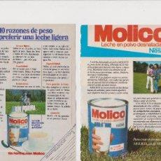 Coleccionismo: 2 ANUNCIOS PUBLICIDAD LECHE EN POLVO MOLICO DE NESTLE. Lote 51321568