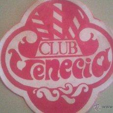 Coleccionismo: POSAVASOS CLUB VENECIA. Lote 51373016