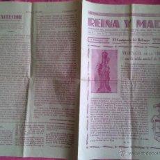 Coleccionismo: SUECA (VALENCIA): HOJA DE REINA Y MADRE, SANTUARIO DE SALES. 1961. Lote 51389611