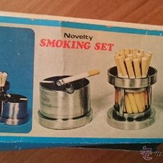 Coleccionismo: FIGURA 0128 SMOKING SET CON CAJA ORIGINAL NOVELTY SET FUMAR FUMADOR CIGARETTE LIGHTER . Lote 51441390