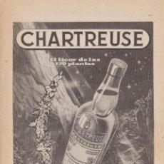 Coleccionismo: PUBLICIDAD BEBIDA LICOR CHARTREUSE. Lote 102507819